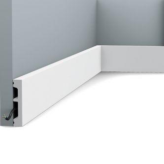 Orac SX157 RAL 9003 plint 200x6.6x1.3 cm