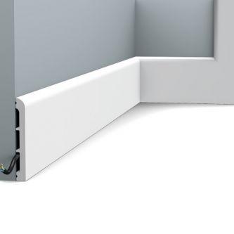 Orac SX184 RAL 9003 hoge plint 200x11x1.3 cm